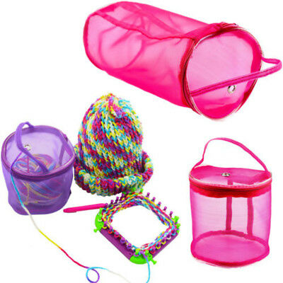 Portable Knitting Crochet Yarn Holder Mesh Storage Bags Tote Organizer Case S L