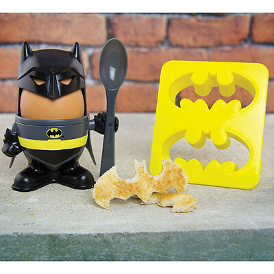 Official DC Comics Batman Egg Cup Toast Cutter Novelty Gift Kitchen fun