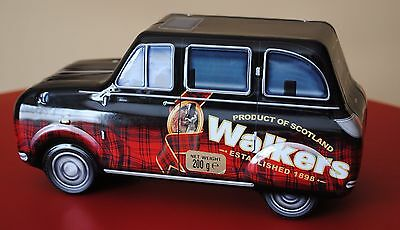WALKERS BISCUIT TIN in shape of car with driver
