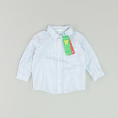 Camisa color Azul marca Benetton 6 Meses