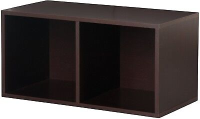 Foremost 327809 Modular Large Divided Cube Storage System Espresso Solid  Wood