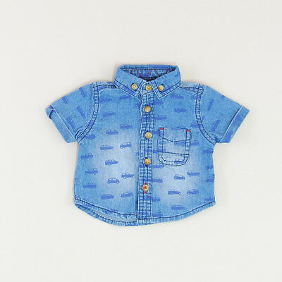 Camisa vaquera color Denim oscuro marca Early days 0 Meses