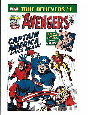True Believers: Kirby 100Th. - Avengers: Captain America # 1 (Oct 2017), Nm New