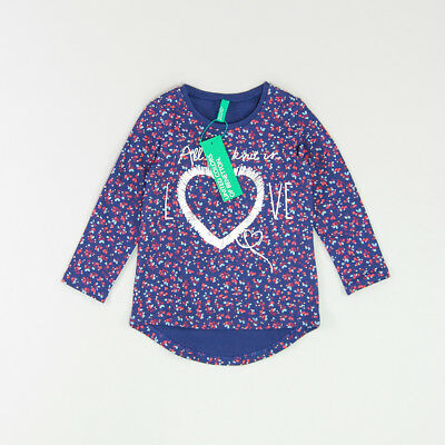 Camiseta color Azul marca Benetton 12 Meses