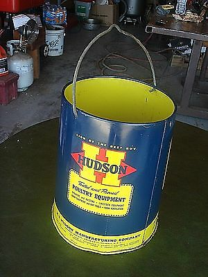 Vintage Advertising  1955 HUDSON Poultry Chicken bird Feeder Sign  Can  Lot #3