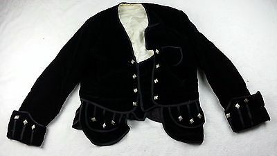 Antique Victorian Era 1800's Scottish Higland  Kilt Jacket Coat Thistle Size S