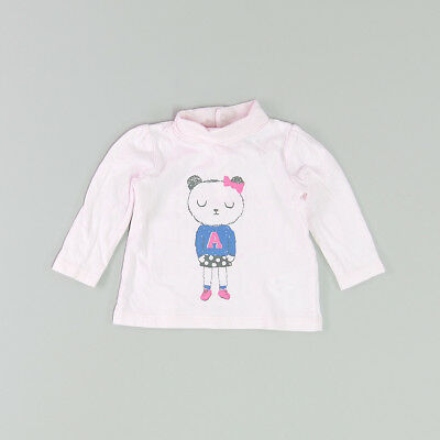 Camiseta color Rosa marca Tex 3 Meses