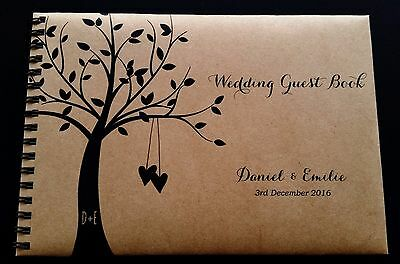 A5 Personalised Guest Book Country Rustic Theme in Box + Optional Sign