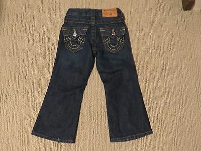 True Religion Brand Blue Jeans Flap Black Pocket Toddler Size 3