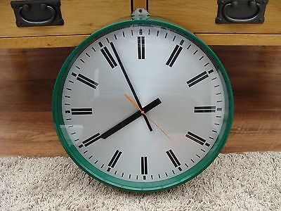 Vintage Smiths Wall Clock British Ministry of Defence  crows foot Army pub cafe