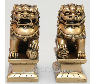 Feng Shui Fu Dogs - Temple Lions Statue Figurine Home or Office