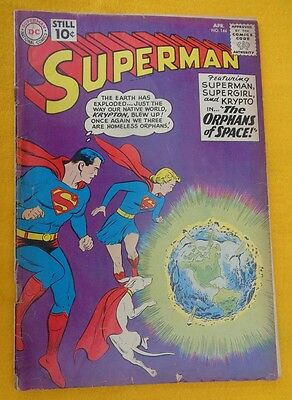 SUPERMAN Comic Book, April 1961 No 144 National Comics Publications