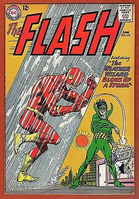 FLASH #145 ( 1964 ) 12c DC COMIC BOOK ( WEATHER WIZARD ) VG