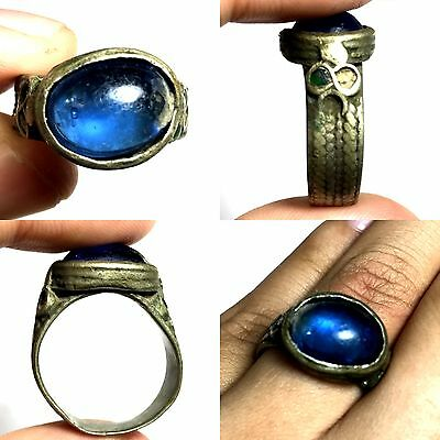 Lovely Ancient Roman Glass Bronze Wonderful Ring