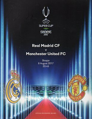 Real Madrid v Manchester United 8.8.2017 UEFA Super Cup