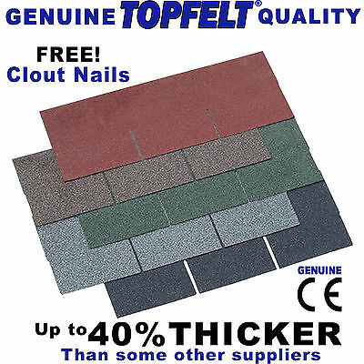 Square Asphalt Roof Felt Tiles Handipacks Sheds, Summerhouses, Log Cabins
