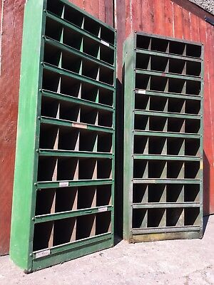 Vintage Antique Steel Racking Pigeon Hole Cabinet Industrial Bank Of Drawers No8