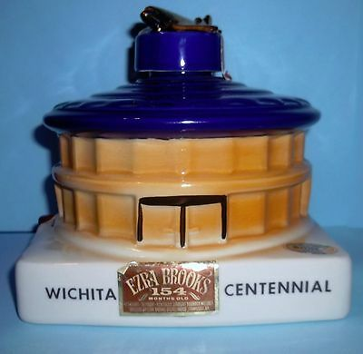 Ezra Brooks Decanter  Wichita Kansas Air Capitol Of World  Centennial 1970  Empt