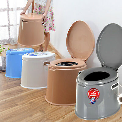 6L Large Portable Toilet Compact Potty Loo Pool Camping Caravan Picnic Festival