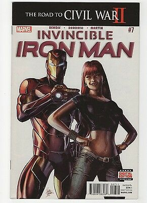 Invincible Iron Man #7 (May 2016, Marvel) 1st Riri Williams!