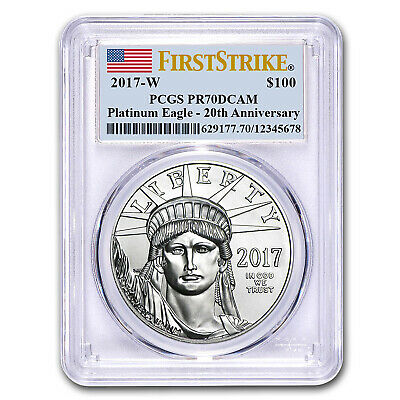 2017-W 1 oz Prf Platinum American Eagle PR-70 PCGS (First Strike)