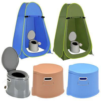 6L Large Portable Compact Toilet Potty Loo Camping Pool Caravan Picnic Festival