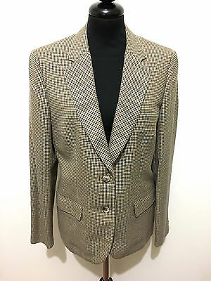BURBERRY VINTAGE '70 Giacca Donna Lana Piedipull Wool Woman Jacket Sz.M - 44