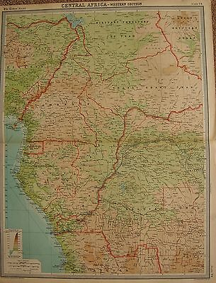1920  Large  Map : Central Africa - Western Section