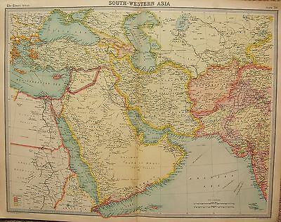 1920  Large  Map : South Western Asia Political Map