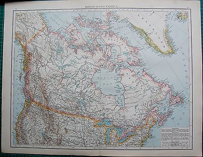 1895 Large Antique Map- British North America