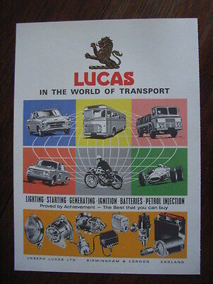 "Lucas ""In the world of transport"" Werbeanzeige, Werbung, Advert, CH, 1967"