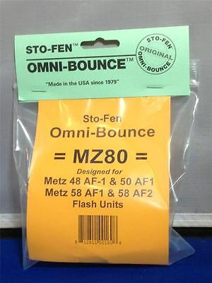 Sto-Fen Omni-Bounce MZ80 Diffuser f/Metz 58 AF1 Flashes Stofen -Made in USA