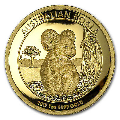 2017 Australia 1 oz Gold Koala Proof (High Relief, Box & COA) - SKU#153412