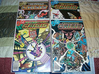 DC Crisis of the Infinite Earths comic set 1-12  and Crossovers
