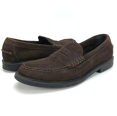 b69835400d3 Cole Haan Men s 9 M Grand OS Pinch Maine Classic Brown Suede Penny Loafer  Shoes
