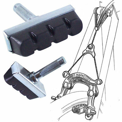 Pair Bike Brake Pad Block Pads Shoe Vintage Insert Cantilever L'eroica Cycle