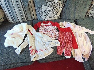 Small 6 - 9 months girl bundle winter. Good condition. Matching Outfits