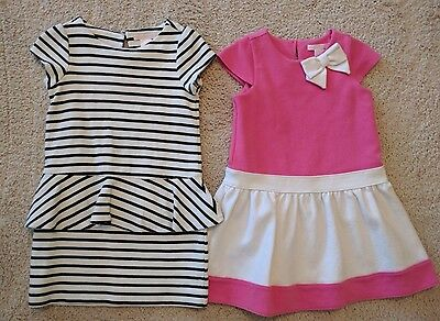 Lot of 2 Janie and Jack Girls Dresses Size 3-4