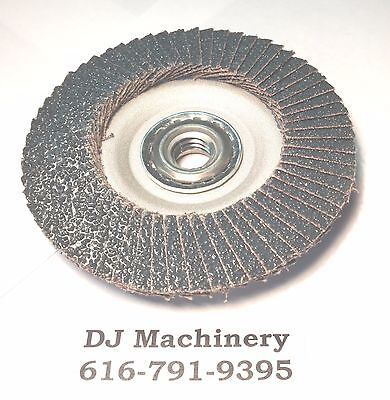 "4-1/2"" 60 GRIT Merit Power Flex Flap Disc 13,300 Rpm Sanding Grinder Disk 5/8-11"
