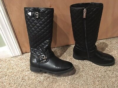 Michael kors Black Quilted Girls Boots Size 3