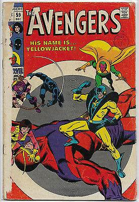 Marvel Comic: Avengers #59 Fa 1.0 Key 1St Yellowjacket Budget Collect Investment