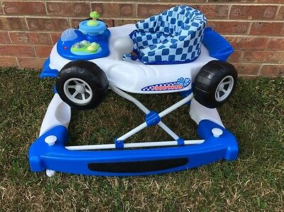 F1 Car Baby Walker - Blue - With Play Tray For Children 6 Mths + (Charity Sale)
