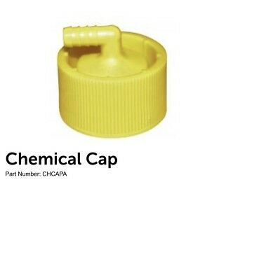 Chemical cap with safety check valve and screen. New. 2 Pieces