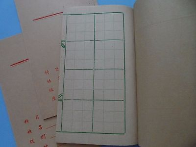 Chinese Calligraphy parchment writing practice books