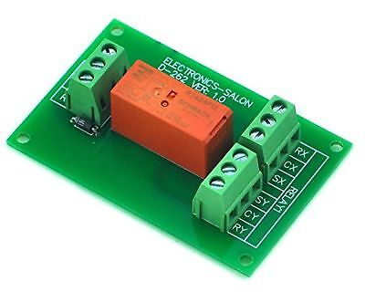 ELECTRONICS-SALON Passive Bistable/Latching DPDT 8 Amp Power Relay Module 12V...