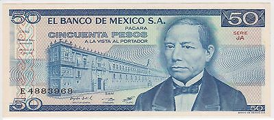 (N7-43) 1973 Mexico 50 pesos bank note