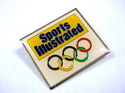 Awesome Vintage 1980's SPORTS ILLUSTRATED Olympic Souvenir Pin USA TEAM