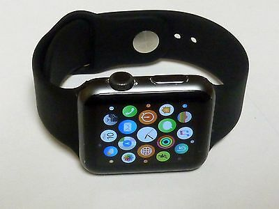 Apple Watch Sport 42mm Space Gray & Black MJ3T2LL/A SmartWatch - WORKS PERFECTLY