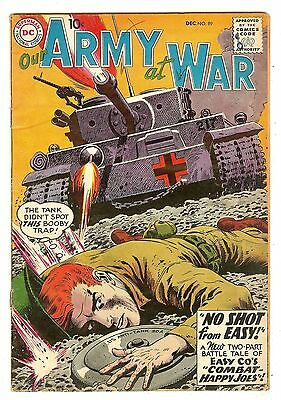 "Our Army At War 89   ""No Shot From Easy!"" story   Heath cover"