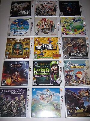 Original Replacement Box Case for Nintendo 3DS Games - Select Your Title
